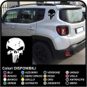 stickers Skull worn effect to the rear jeep renegade stickers Jeep Renegade skull Punisher