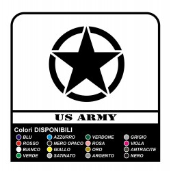 Sticker STAR militaire consommé cm7 x Jeep RENEGADE COMPASS, Cherokee, et SUV