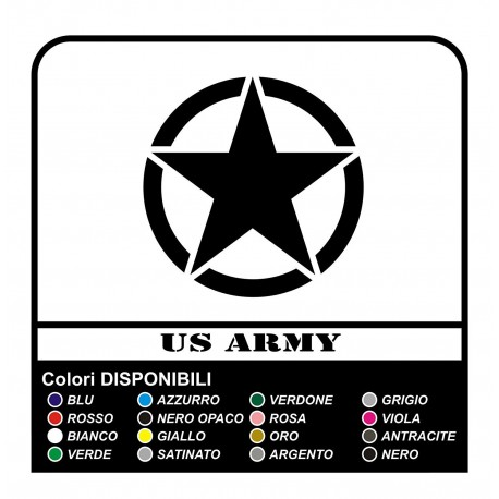 Sticker STAR military consumed cm7 x Jeep RENEGADE COMPASS, Cherokee, and SUV