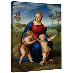 Modernes gemälde Madonna del Cardellino von Raffaello - Madonna of the Goldfinch Bild drucken auf leinwand, leinwand mit oder