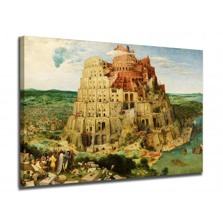 """Painting the Tower of Babel Pieter Brueghel the elder - """" Babel Tower - print on canvas with or without frame"""