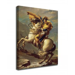 Painting Napoleon Bonaparte crossing the Great St. Bernard pass, Jacques-Louis David prints on canvas with or without frame