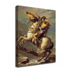 Quadro Napoleone Bonaparte valica il Gran San Bernardo Jacques-Louis David stampa su tela canvas con o senza telaio