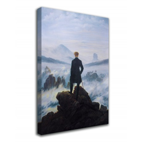 The framework Wanderer on the sea of fog Caspar David Friedrich print on canvas with or without frame