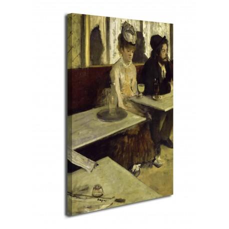 La peinture, L'Absinthe-Edgar Degas - Absinthe - impression sur toile avec ou sans cadre