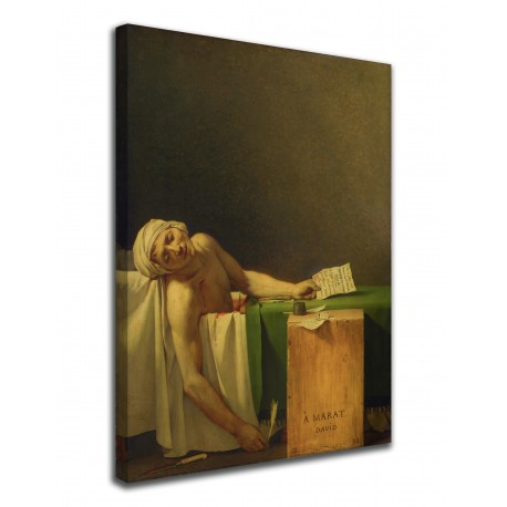 Painting Death of Marat Jacques-Louis David - Death of Marat - print on canvas with or without frame