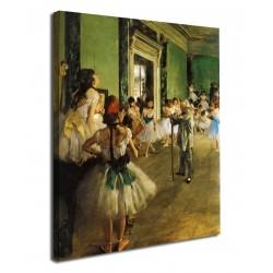 La peinture de La leçon de danse Edgar Degas - la leçon de danse - impression sur toile avec ou sans cadre