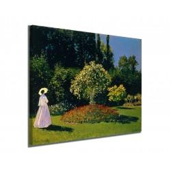 Quadro Signora in giardino a Sainte-Adresse Claude Monet stampa su tela canvas con o senza telaio