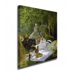 Painting the luncheon on The grass Claude Monet - Breakfast on the grass prints on canvas with or without frame