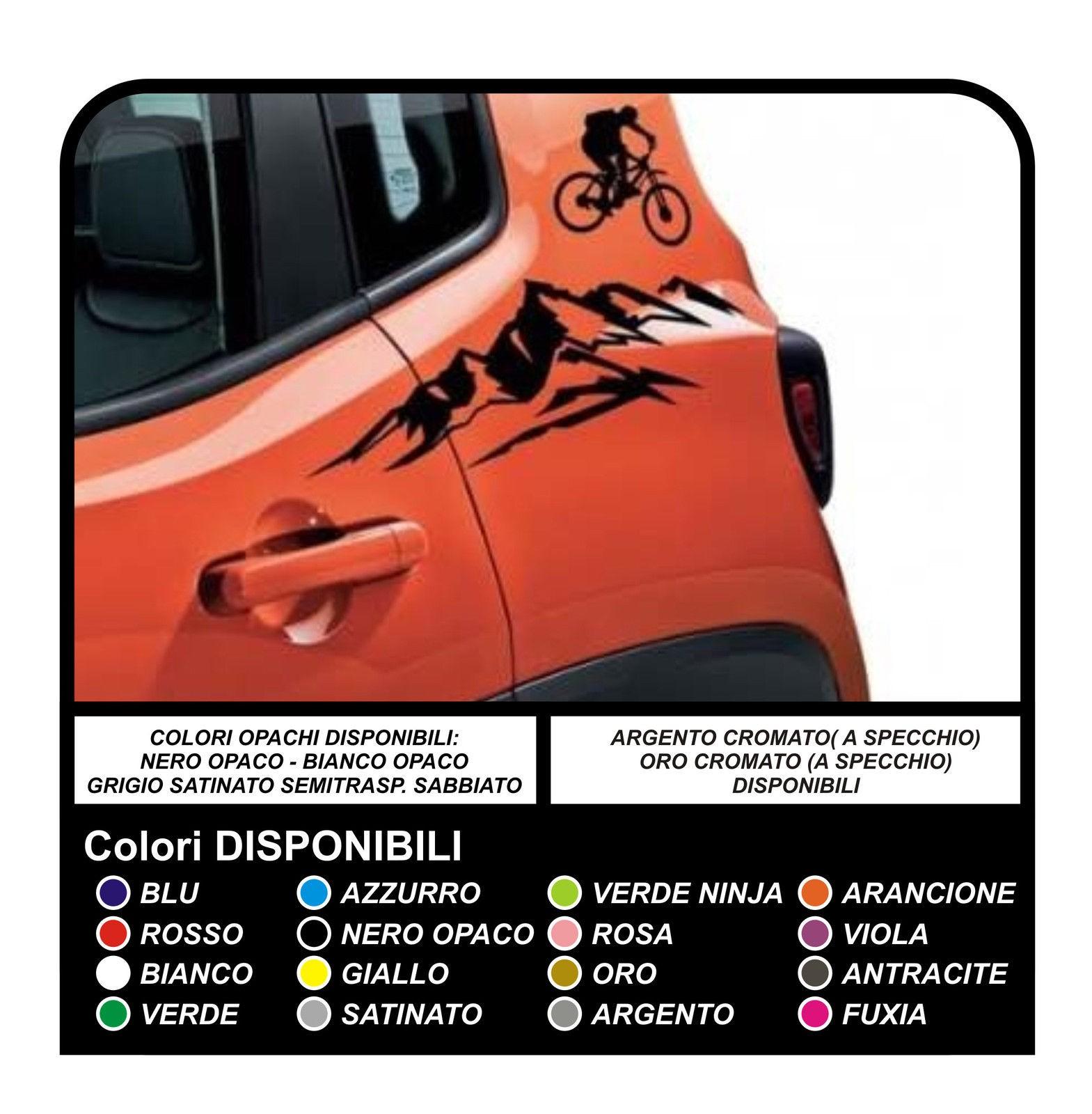 Stickers autocollants pour jeep renegade vélo de montagne de la porte la porte de la voiture autocollants