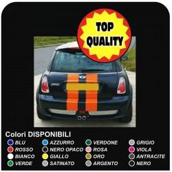 adesivi Baule mini cooper MINI COOPER kit strisce adesive UNIVERSALE COFANO POSTERIORE R52 Cooper S ONE TUTTI MODELLI