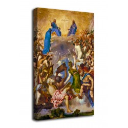 Quadro La Gloria - Tiziano - The Glory - stampa su tela canvas con o senza telaio