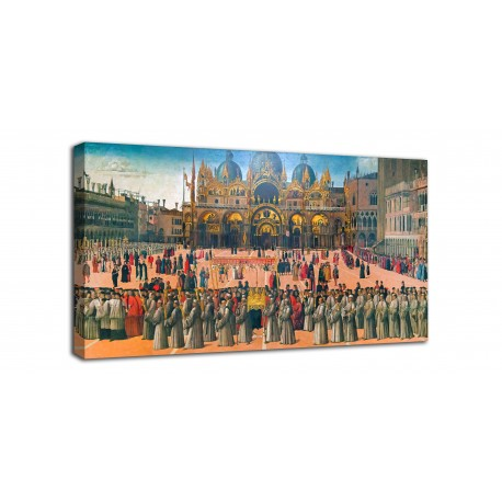 Painting Procession in piazza San Marco - Gentile Bellini - print on canvas with or without frame