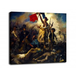 Quadro La Libertà che guida il popolo - Eugène Delacroix - stampa su tela canvas con o senza telaio