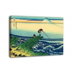 Quadro Il Pescatore di Kajikazawa - Katsushika Hokusai - stampa su tela canvas con o senza telaio
