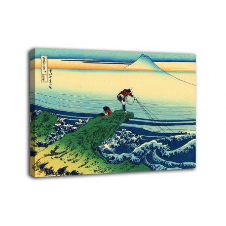 Framework The Fisherman of Kajikazawa - Katsushika Hokusai - print on canvas with or without frame