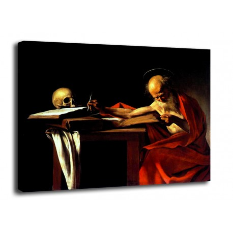 Picture of Saint Jerome - Caravaggio - print on canvas with or without frame