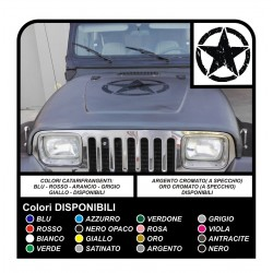 Sticker STAR military consumed 50 cm x Jeep RENEGADE COMPASS, Cherokee, and SUV
