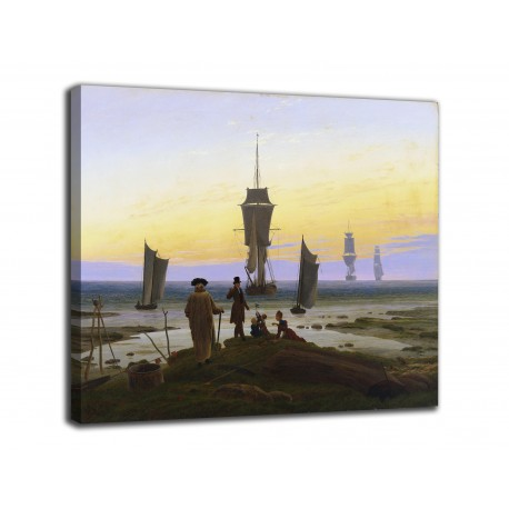 The framework of The three ages of man - Caspar David Friedrich - print on canvas with or without frame