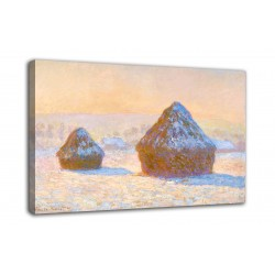 The framework Sheaves, effect of snow, in the morning - Claude Monet - print on canvas with or without frame