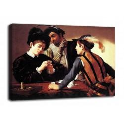 Quadro I bari - Caravaggio - stampa su tela canvas con o senza telaio