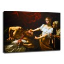 Painting Judith and Holofernes - Caravaggio - print on canvas with or without frame