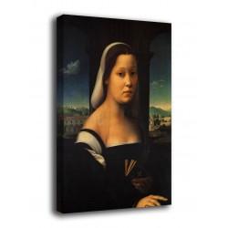Quadro Donna Velata (La monaca) - Ridolfo Del Ghirlandaio - stampa su tela canvas con o senza telaio