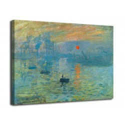 Painting Impression, sunrise - Claude Monet - print on canvas with or without frame