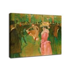 Quadro Ballo al Moulin Rouge - Henri de Toulouse-Lautrec - stampa su tela canvas con o senza telaio