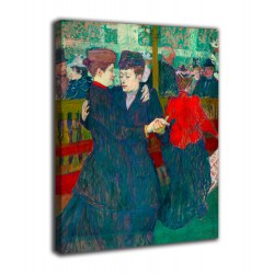 Picture of Two women dancing - Henri de Toulouse-Lautrec - prints on canvas with or without frame