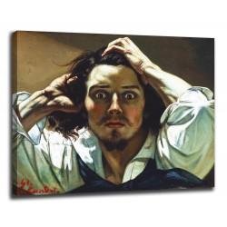 Quadro Autoritratto o uomo disperato - Gustave Courbet - stampa su tela canvas con o senza telaio