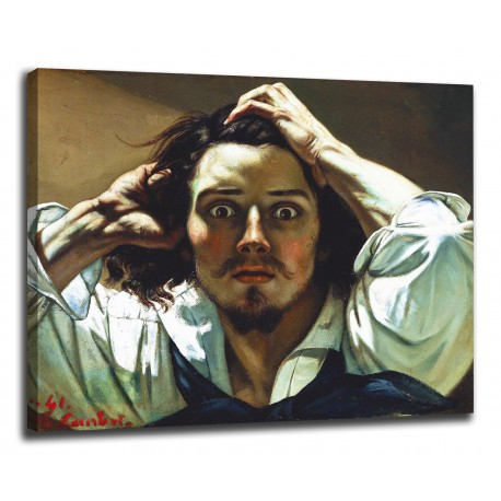 Painting a self-Portrait or desperate man - Gustave Courbet - print on canvas with or without frame