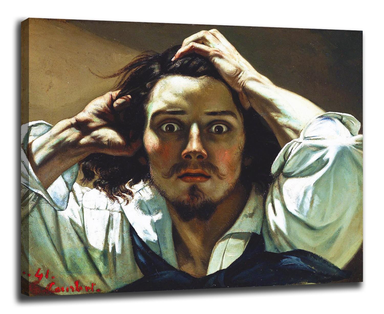 La Peinture D Un Auto Portrait Homme Desespere Gustave Courbet Impression Sur Toile Avec Ou Sans Cadre