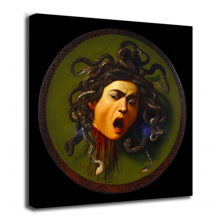 Framework Shield with head of Medusa - Caravaggio - print on canvas with or without frame