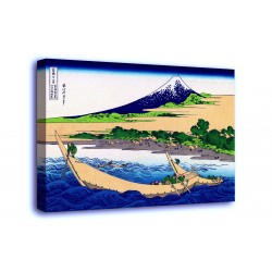 The framework the Coast of the bay of the Tagus, Ejiri at Tōkaidō - Katsushika Hokusai - print on canvas with or without frame