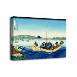 Quadro Tramonto attraverso il ponte di Ryōgoku - Katsushika Hokusai - stampa su tela canvas con o senza telaio