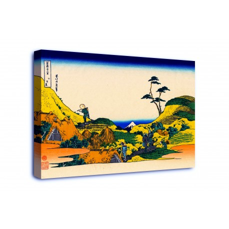 The framework Shimomeguro - Katsushika Hokusai - print on canvas with or without frame