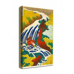 Picture The waterfall at Yoshino where the warrior Yoshitsune washed his horse - Hokusai - print on canvas with or without frame