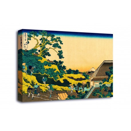 The framework Sundai, Edo - Katsushika Hokusai - print on canvas with or without frame