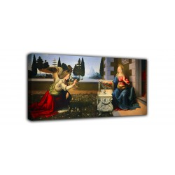 Painting the Annunciation - Leonardo - print on canvas with or without frame