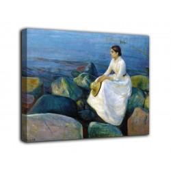 Quadro Inger sulla spiaggia - Edvard Munch - stampa su tela canvas con o senza telaio