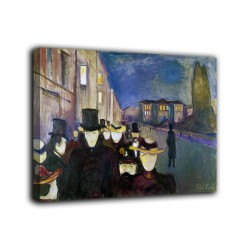 Painting Evening on Karl Johan - Edvard Munch - print on canvas with or without frame