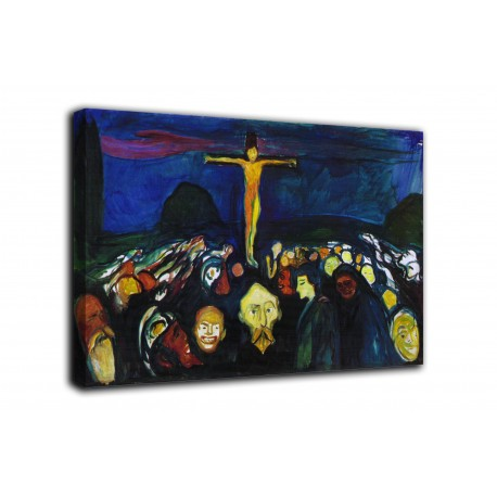 The framework and mount Calvary - Edvard Munch - print on canvas with or without frame