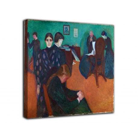 Painting death in the sick-room - Edvard Munch - print on canvas with or without frame