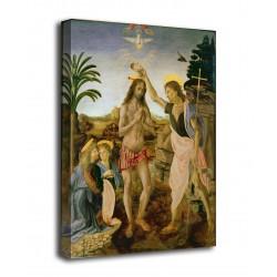 Quadro Il battesimo di Cristo - Leonardo, Verrocchio - stampa su tela canvas con o senza telaio