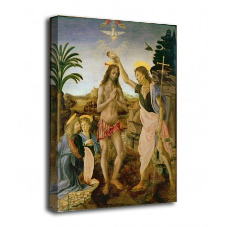 The framework of The baptism of Christ - Leonardo, Verrocchio - print on canvas with or without frame