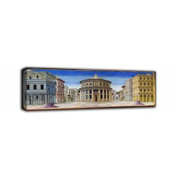 The framework of The ideal city - painted by Piero Della Francesca print on canvas with or without frame