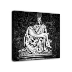 Quadro La pietà vaticana - Michelangelo - monocromatico stampa su tela canvas con o senza telaio