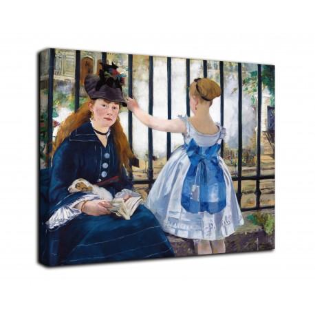 Le cadre du chemin de fer - Edouard Manet - impression sur toile avec ou sans cadre