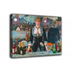 Framework The bar of the Folies Bergère - Édouard Manet - print on canvas with or without frame